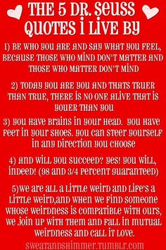 5 Dr. Seuss Quotes to Live by!