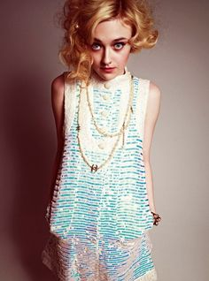 Dakota Fanning photographed by Cedric Buchet for Wonderland, May/April 2012