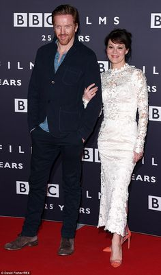 Acting royalty:Damian Lewis and Helen McCrory led the way on a glittering red carpet on We...