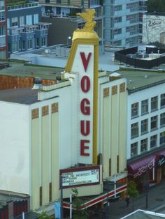 Vogue Theatre was designed by Kaplan & Sprachman and was completed in 1940.  For many years it was a movie theatre, and is now a live venue for music and other performances.