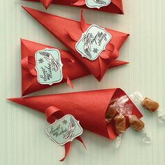 The candy sounds good - but I want to fold party favors like that!!!