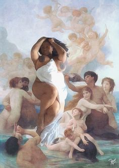 Imitating Art using Naissance de Venus (Birth of Venus) by William-Adolphe Bouguereau