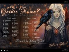 Gothic Name Generator: I got Ruby Storm New Names, Cool Names, Funny Name Generator, Birthday Scenario Game, Birthday Games, Name Maker, Witch Names, Mermaid Names, Witches