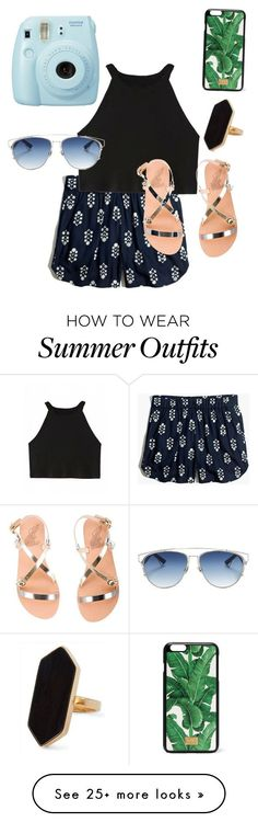 """Collection Of Summer Styles    """"summer outfit"""" by ayyeitsclaire on Polyvore featuring Fuji, Madewell, Ancient Greek Sandals, Dolce&Gabbana, Christian Dior and Jaeger    - #Outfits  https://fashioninspire.net/fashion/outfits/summer-outfits-summer-outfit-by-ayyeitsclaire-on-polyvore-featuring-fuji-madewell-ancient-g/"""