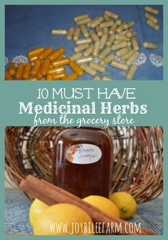 medicinal herbs from the grocery store~JoybileeFarm