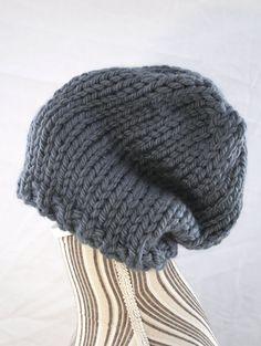 berretto  cappello   lana grossa maglia chunky cozy di AloneMavi