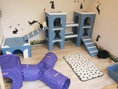 Customer Setup ideas and rabbit enrichment hides supplied by Manor Pet Housing Diy Bunny Cage, Diy Bunny Toys, Bunny Cages, Rabbit Cages, Rabbit Toys, Pet Rabbit, Indoor Rabbit House, House Rabbit, Animal Room