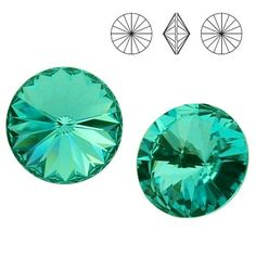 1122 Rivoli SS39 Light Turquoise F 2pcs  Dimensions: diameter 8,16-8,41 mm Colour: Light Turquoise F 1 package = 2 pieces