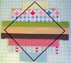 String Quilt Inspiration Tutorial. This is so cute. I think I'd like to try it but using an orange for the top and bottom strips. Then it will look all scrappy and have orange squares all over it:)