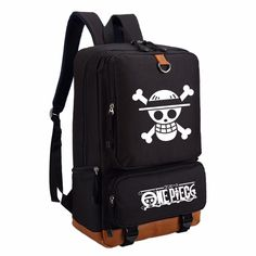 Capacious Backpack with One Piece Anime Print Anime One, One Piece Anime, High Quality Backpacks, Diaper Bag Backpack, Diaper Bags, One Piece Luffy, Cartoon Styles, School Bags, Travel Bags