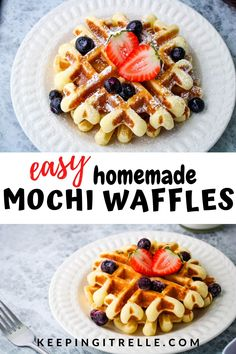 Chewy mochi center with a crunchy golden brown exterior makes for the best mochi waffles. This easy recipe creates a cross between Belgain waffles and Japanese mochi. The ultimate homemade breakfast dish. Homemade Breakfast, Sweet Breakfast, Breakfast Dishes, Breakfast Recipes, Homemade Waffles, Breakfast Ideas, Mochi Waffle Recipe, Mochi Recipe, Rice Flour Waffle Recipe