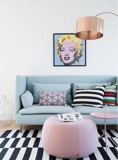 Pastel pop art #livingroom