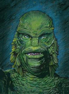 The Creature From The Black Lagoon color by DeevElliott.deviantart.com on @DeviantArt