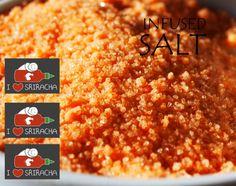 Sriracha Infused Sea Salt - 1oz Bag by Kitschy Chic Spicery on Gourmly