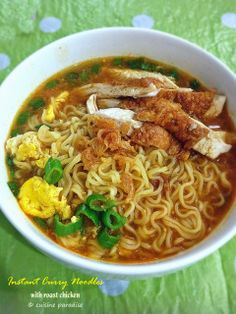 Cuisine Paradise | Singapore Food Blog | Recipes, Reviews And Travel: Quick Meals With Instant Noodles - Instant Noodles Soup : Chicken Curry Noodles