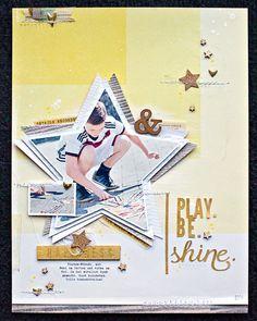 * by JanineLanger at Studio_Calico Disney Scrapbook, Baby Scrapbook, Scrapbook Paper Crafts, Scrapbook Cards, Scrapbook Sketches, Scrapbook Page Layouts, Scrapbooking Ideas, Crate Paper, Studio Calico