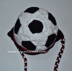 Crochet Soccer Ball Hat Here is the pattern for the soccer ball. I made modifications on the pattern to end up the desired head circum...