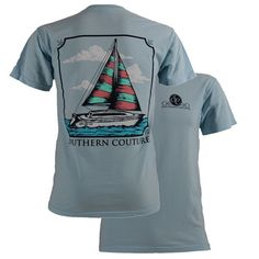 Southern Couture Sailboat Comfort Color Tee