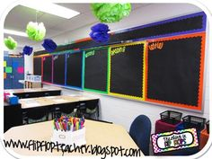 Teaching in Flip Flops: Classroom Tour 2012 - 2013 Classroom Layout, Classroom Organisation, Classroom Design, Kindergarten Classroom, School Classroom, Classroom Themes, Classroom Management, Future Classroom, Classroom Behavior
