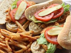 Need a break from the grill? Try these pan-fried po'boys