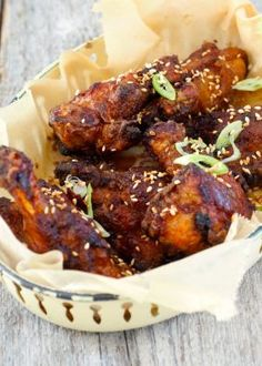 Sweet And Sticky Barbecued Chicken Wings. It is grilling season so be sure to check out the BEST BBQ sauce and rub that is gluten free and totally all natural! Barbecue Chicken, Tandoori Chicken, Chicken Wingettes, Best Bbq, Chicken Wings, Tapas, Meat, Ethnic Recipes, Buffalo Wings