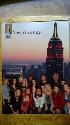 Group shot from Empire State Building. Group Shots, Empire State Building, New York City, Movies, Movie Posters, New York, Films, Film Poster, Cinema