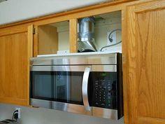 microwave cabinet range microwave