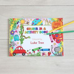 Personalised Colour In And Activity Book