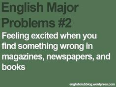 English major problems
