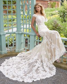 a50b2c4792 Parker Wedding Dress Frosted Alençon Lace Appliqués on a Soft