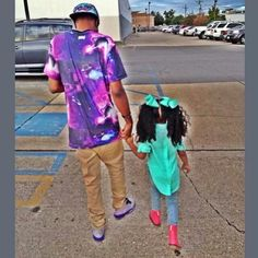 August Alsina and his niece..So cute ♥    they are so cute walking his lil niece.
