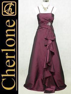 Cherlone Plus Size Satin Purples Ballgown Wedding/Evening Bridesmaid Dress 20-22 in Clothes, Shoes & Accessories, Women's Clothing, Dresses | eBay