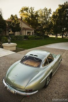 1955 Mercedes-Benz #300SL #Gullwing Coupe - Pic Source: http://apostrophe9.tumblr.com/post/51389170677/desertmotors-1955-mercedes-benz-300sl-gullwing