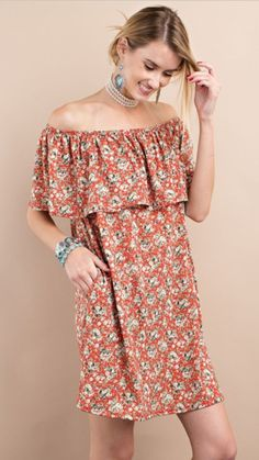 As we get ready to spring forward into the best time of year, all us gals need to be ready with the perfect dress. Florals are all the rage for the perfect chic look. This dress features an adorable r