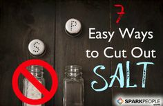 Easy Ways to Cut Sodium Intake | via @SparkPeople #nutrition #sodium