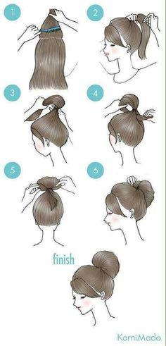 29 simple and easy ways to tie up your hair Cute Simple Hairstyles, Work Hairstyles, Medium Hair Styles, Curly Hair Styles, Pinterest Hair, Stylish Hair, Hair Videos, Hair Designs, Hair Looks