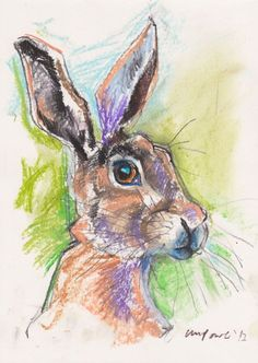 Buy Pastel Hare 01 - A4 charcoal