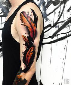Tribal Feather Tattoos, Leaf Tattoos, Watercolor Tattoo, Inspiration, Musica, Biblical Inspiration, Temp Tattoo, Inspirational, Inhalation