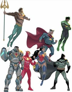 Superhero Art Projects, Superhero Design, Arte Dc Comics, Dc Comics Superheroes, Comic Books Art, Comic Art, Action Comics, Marvel And Dc Characters, Univers Dc