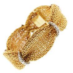 Oscar Heyman & Brothers Diamond and Gold Bracelet. Circa 1960s