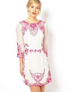 ASOS Placement Embroidered Shift Dress