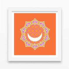 SALE:  Moroccan Moon Print  Sacred Geometry  by HoneycombPrint