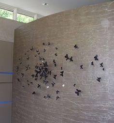 Paul Villinski Art at the Aulik Luxury Home - Home Dish - June 2009 - Minnesota Butterfly Art, Butterflies, I Coming Home, Minnesota, Luxury Homes, June, Dish, Home Decor, Color Pictures