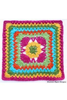 Ziggidy Zag Summer Square New Free Crochet Pattern