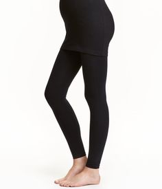 Leggings with extra space for a growing tummy. Maternity Tights, Maternity Wear, Maternity Fashion, Maternity Style, Nursing Dress, Nursing Clothes, Tight Leggings, Black Leggings, Black Mama