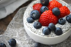 Vanilla Chia Pudding : this has become the base for my chia pudding and then I add different fruit, milk, sugar .... Whatever I want