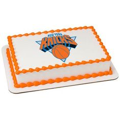 New York Knicks NBA Edible Cake Topper | My Party Helpers | http://mypartyhelpers.com/products/new-york-knicks-nba-edible-cake-topper