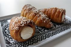 tuuttipullat Finland Food, Deli, Food Hacks, Doughnut, Food Inspiration, Baked Goods, French Toast, Favorite Recipes, Baking