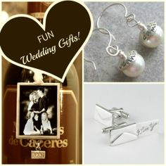 Personalized Wedding Gifts! Make it a FUN memorable gift. Save 10% with coupon code PIN10 http://bluegiraffeboutique.com/products/love-letter-cufflinks.html