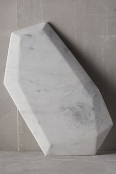 Faceted Marble Cheese Board, Modern chic home decor